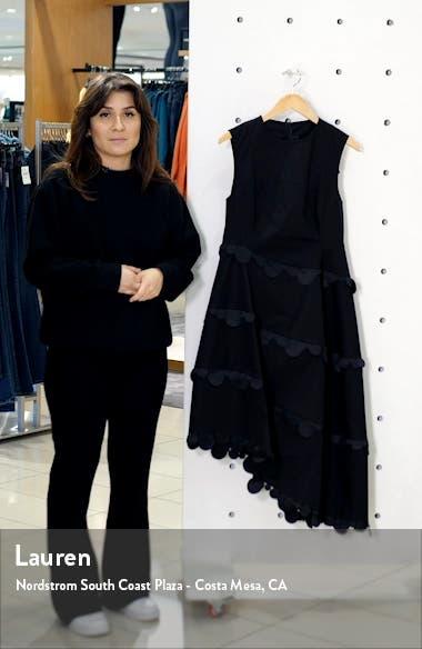 Dot Trim Asymmetrical Fit & Flare Dress, sales video thumbnail