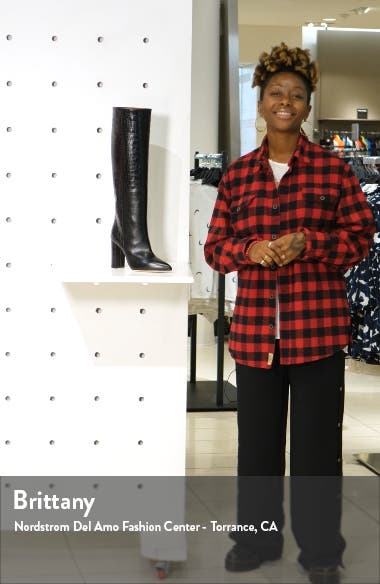 Croc Embossed Over the Knee Boot, sales video thumbnail
