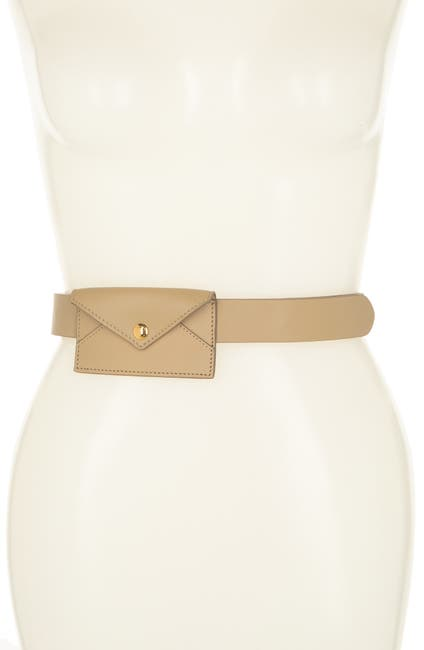 Image of Burberry Envelope Leather Belt Bag