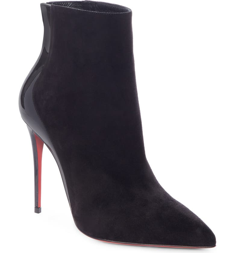 CHRISTIAN LOUBOUTIN Delicotte Pointed Toe Bootie, Main, color, 001