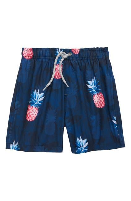 Image of Vintage Summer Pineapples Swim Trunks