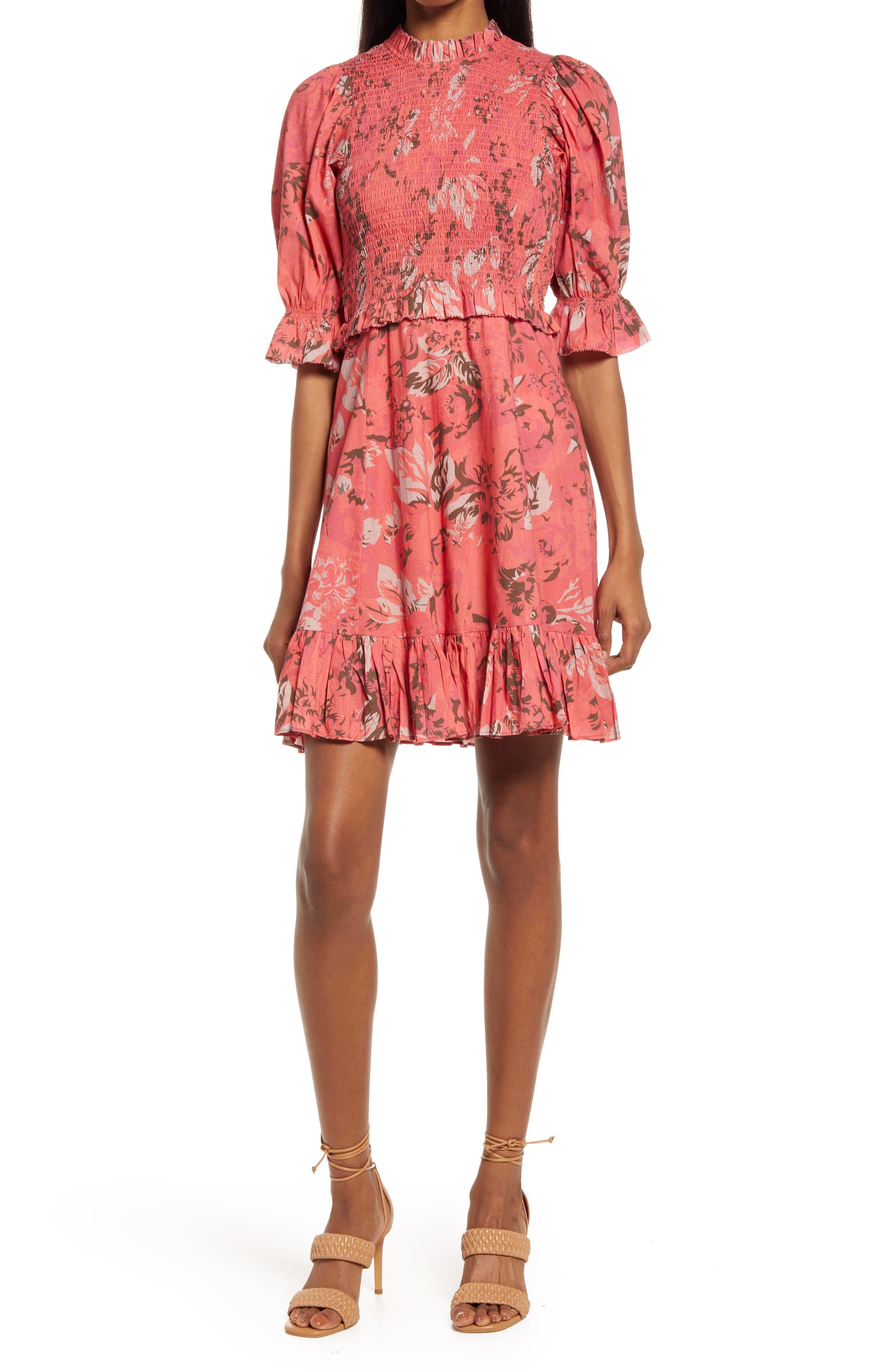 Priya Floral Smocked Dress