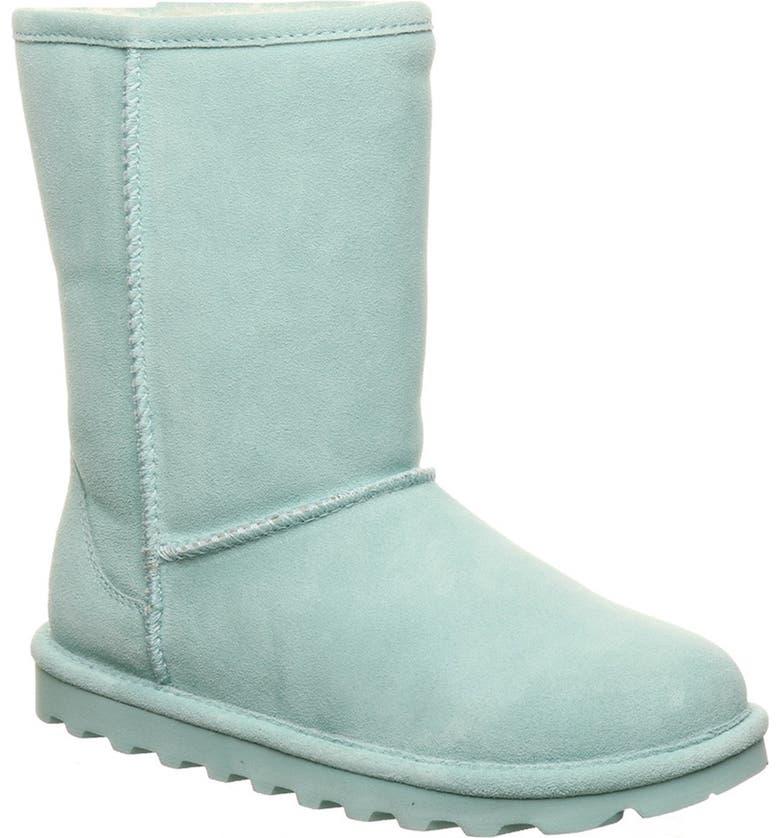 BEARPAW Elle Genuine Sheepskin Waterproof Boot, Main, color, SURFSPRAY 443