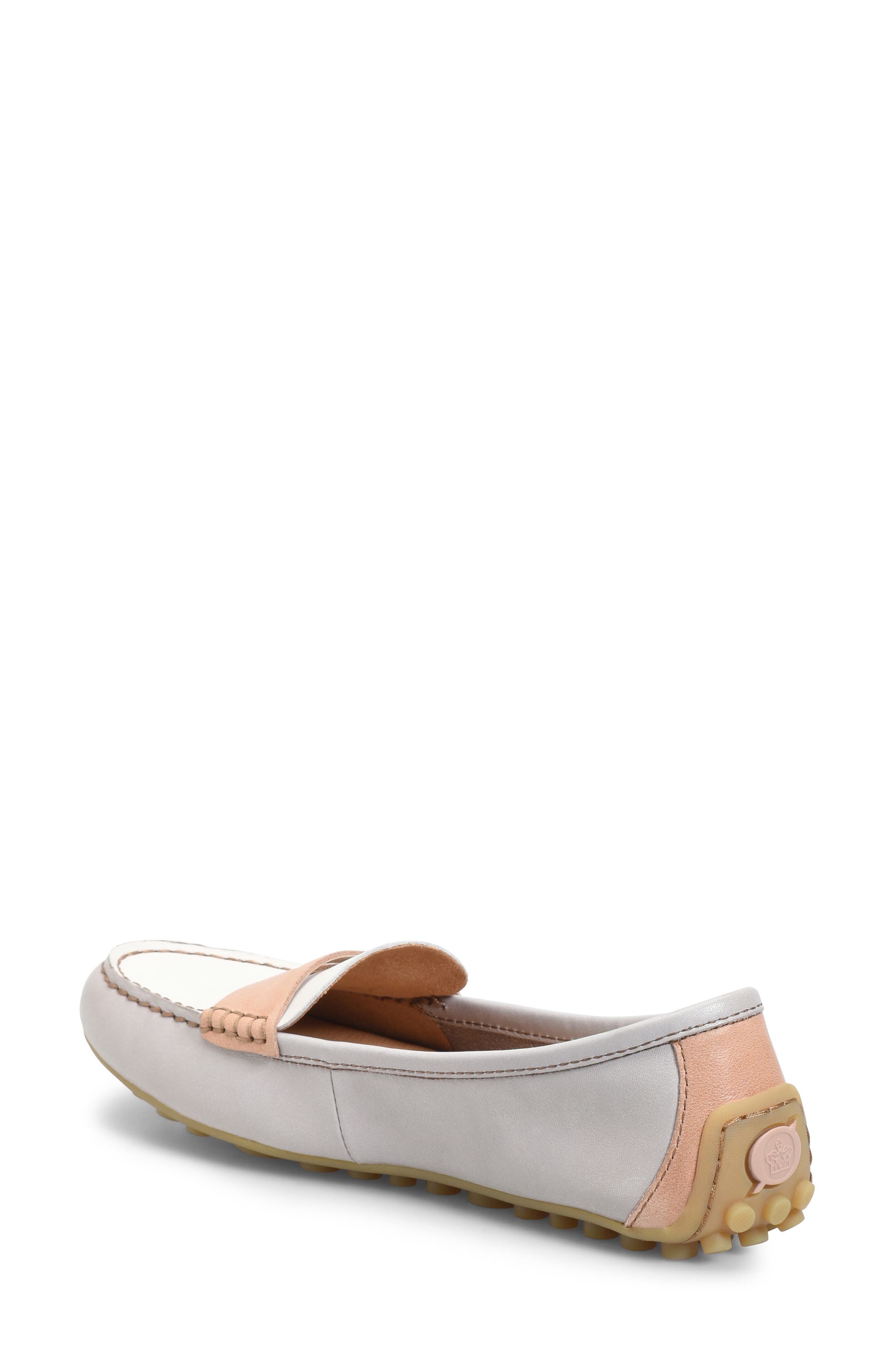 ,                             Malena Penny Loafer,                             Alternate thumbnail 2, color,                             LIT GREY/ WHITE/ BLUSH LEATHER