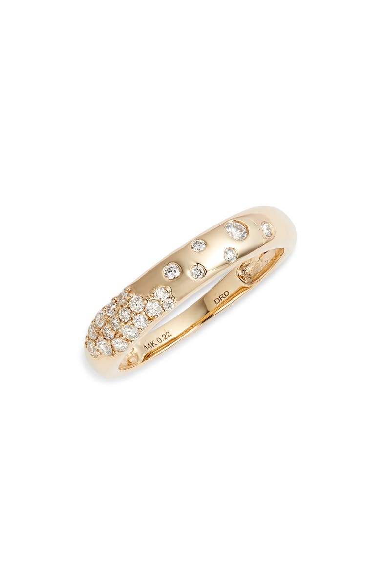 DANA REBECCA DESIGNS Cynthia Rose Diamond Band Ring, Main, color, YELLOW GOLD