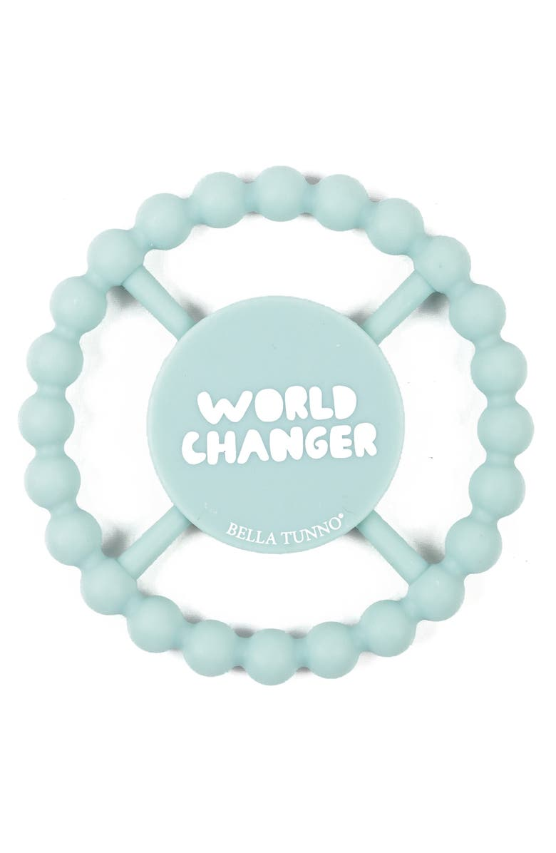 BELLA TUNNO World Changer Silicone Teether, Main, color, AQUA
