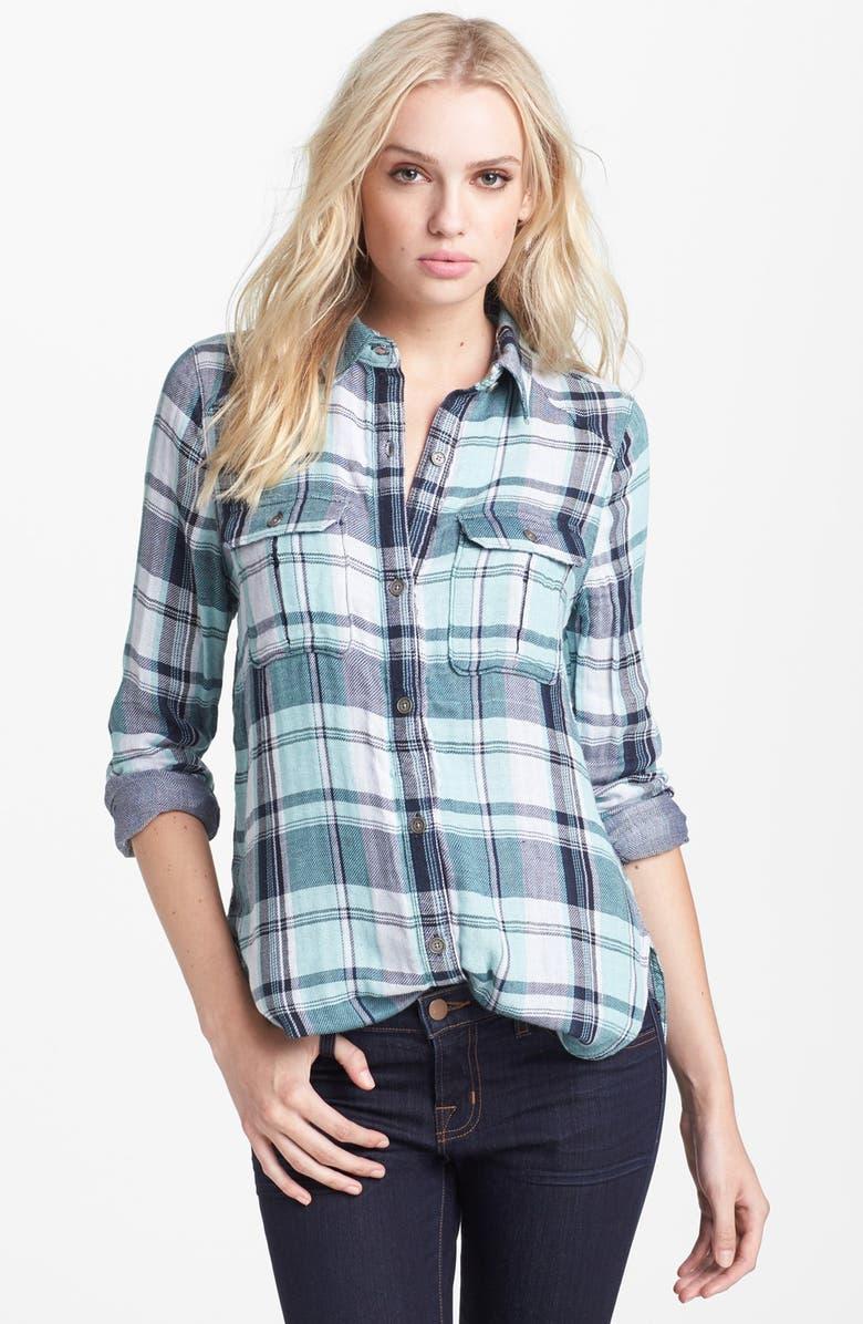 PAIGE Denim 'Kadie' Plaid Shirt, Main, color, 400