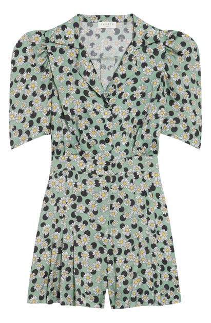 Sandro Playsuits DAISY & DOT PRINT SHORT SLEEVE PLAYSUIT