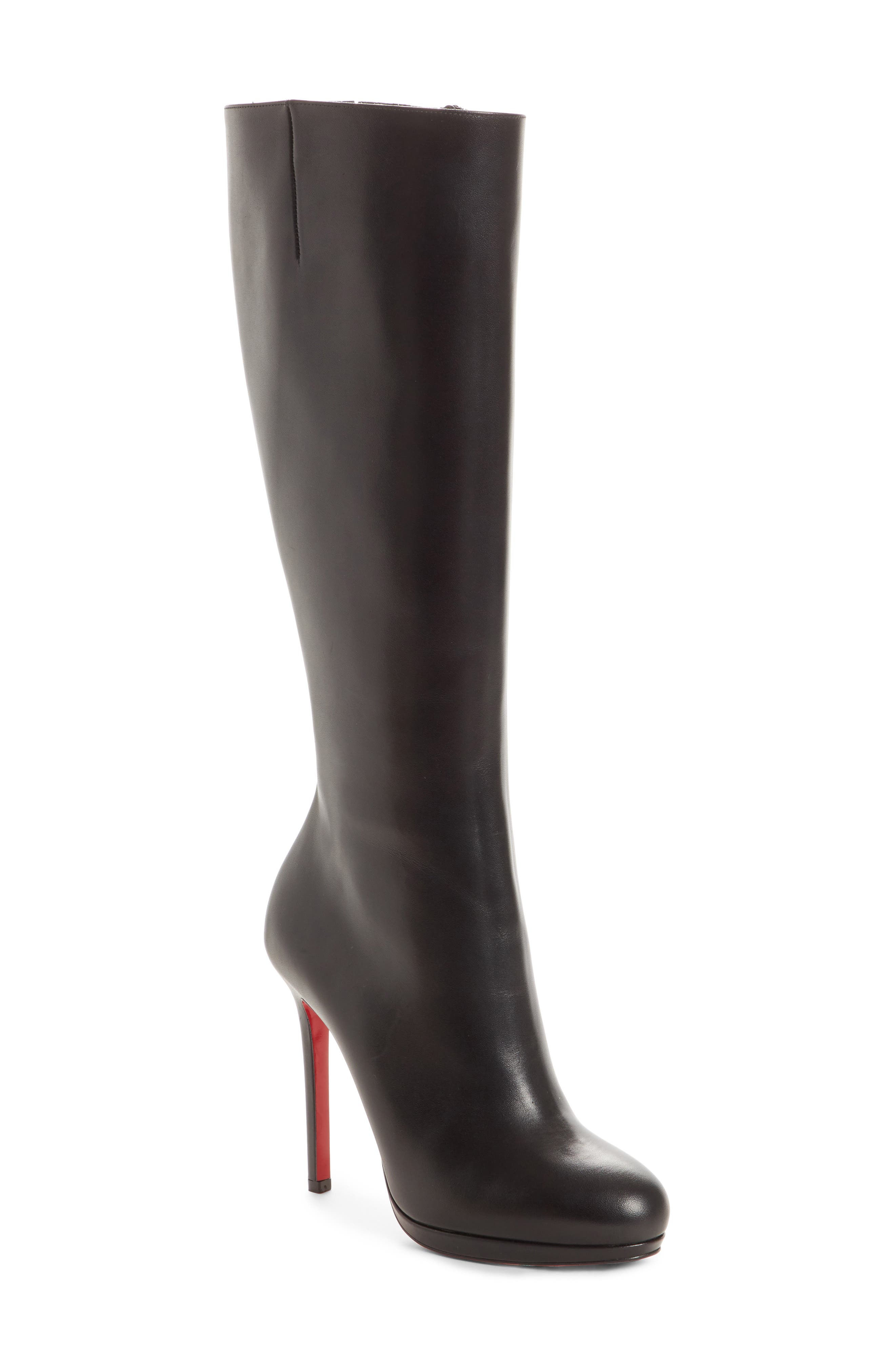 Christian Louboutin Botalili Knee High Boot - Black