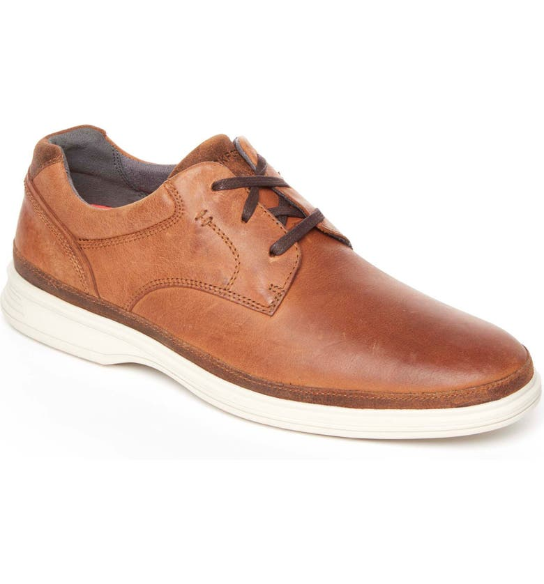 ROCKPORT Dressports 2 Go Plain Toe Derby, Main, color, NEW CARAMEL LEATHER