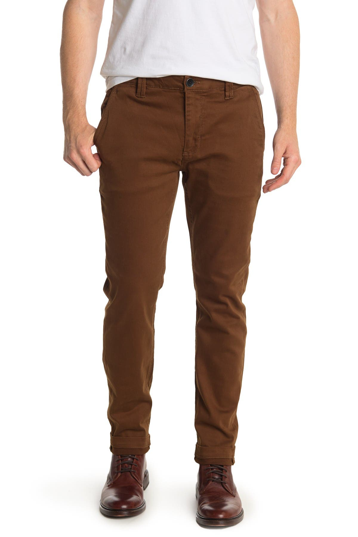 Image of BLANKNYC Denim Solid Straight Leg Chinos