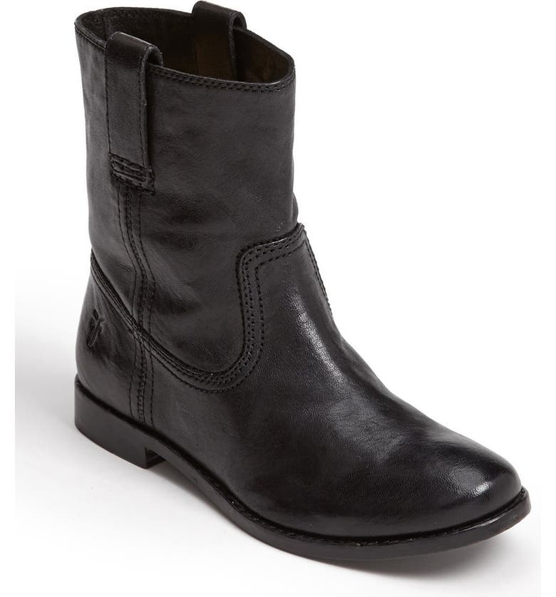 FRYE 'Anna - Shortie' Leather Boot, Main, color, Black