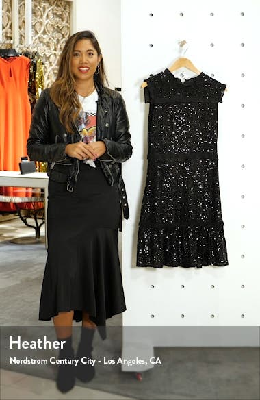 Sequin Tiered A-Line Dress, sales video thumbnail