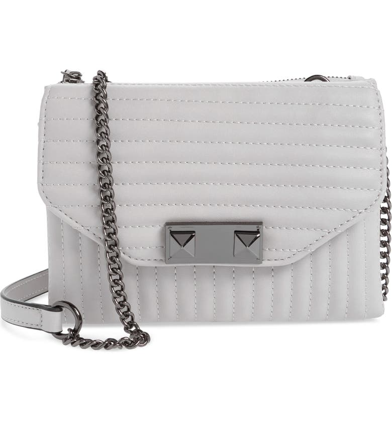 VIOLET RAY NEW YORK Quilted Faux Leather Crossbody Bag, Main, color, 020