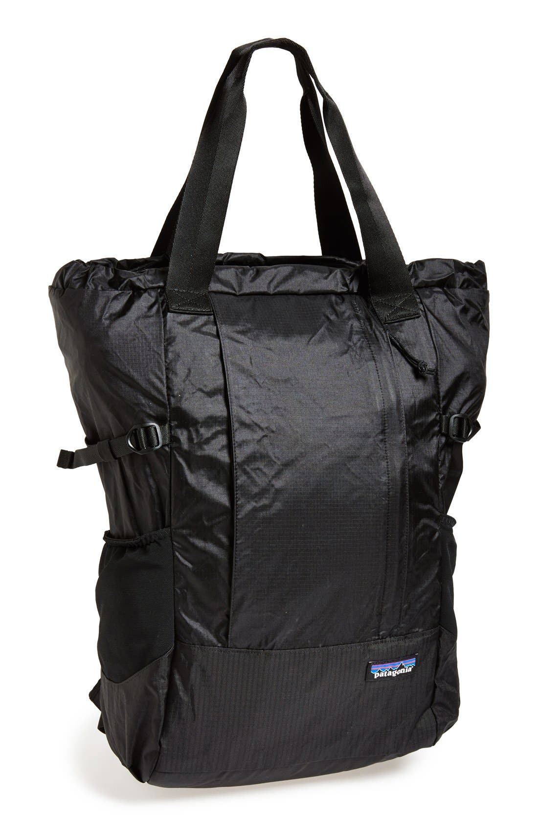 ,                             Lightweight Travel Tote Pack,                             Main thumbnail 1, color,                             BLACK