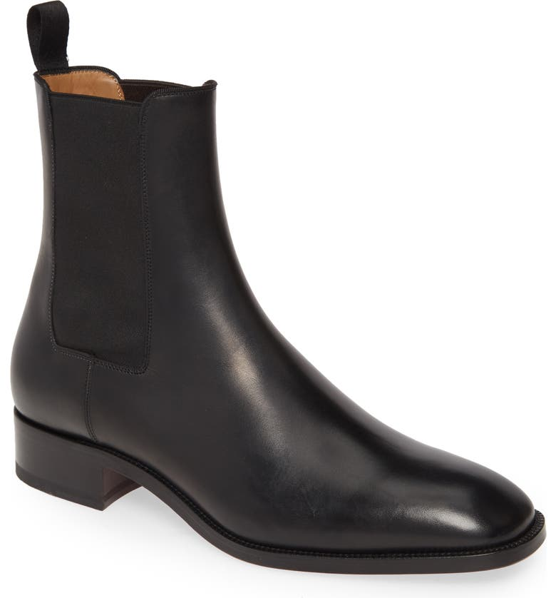 CHRISTIAN LOUBOUTIN Samson Chelsea Boot, Main, color, BLACK