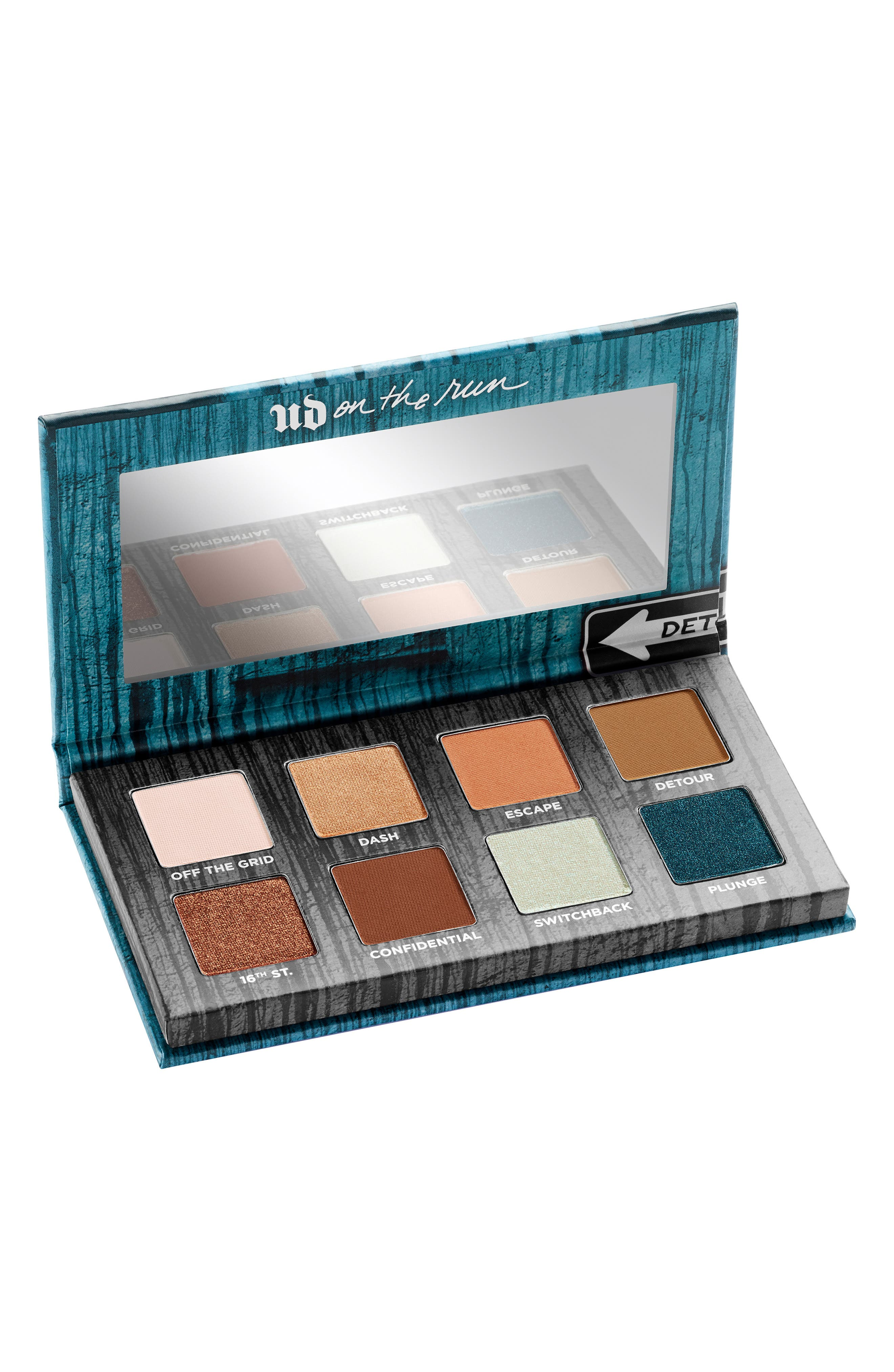 On the Run Mini Eyeshadow Palette, Main, color, DETOUR