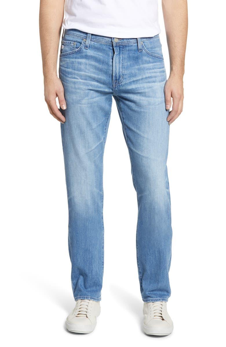 AG Everett Slim Straight Leg Jeans, Main, color, 17 YEARS PHASE
