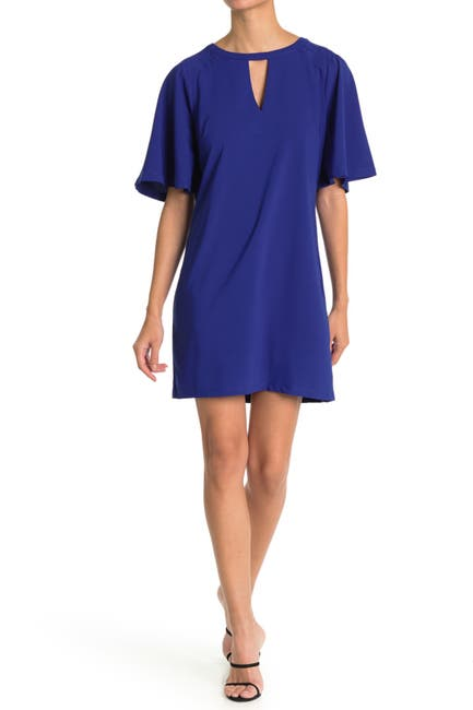 Image of TASH + SOPHIE Front Cutout Scuba Crepe Dress