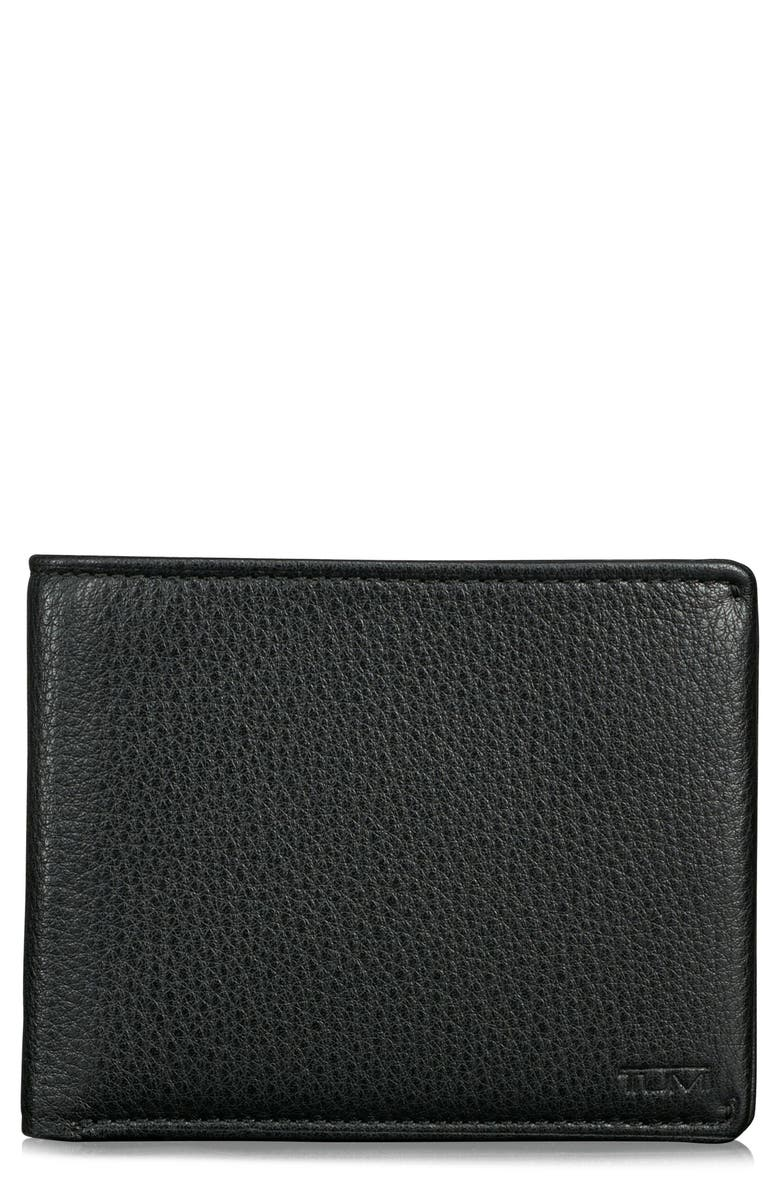 TUMI Global Leather RFID Wallet, Main, color, 011
