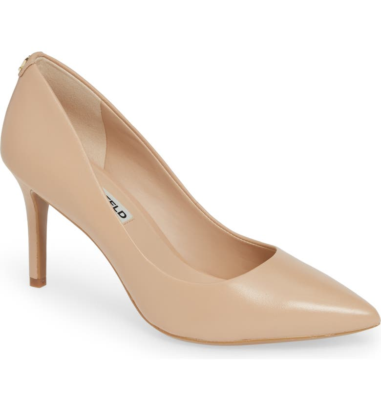KARL LAGERFELD PARIS Royale Pump, Main, color, NUDE LEATHER