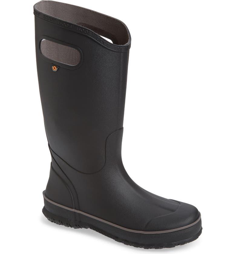 BOGS Waterproof Rain Boot, Main, color, BLACK