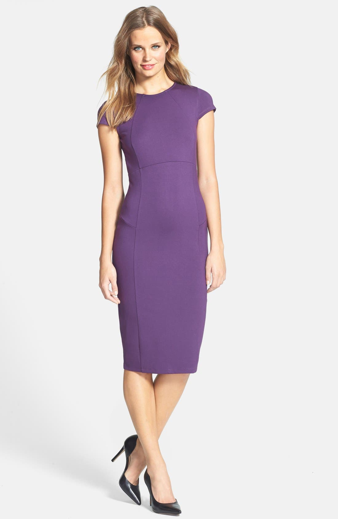 ,                             Ward Seamed Pencil Dress,                             Alternate thumbnail 42, color,                             500