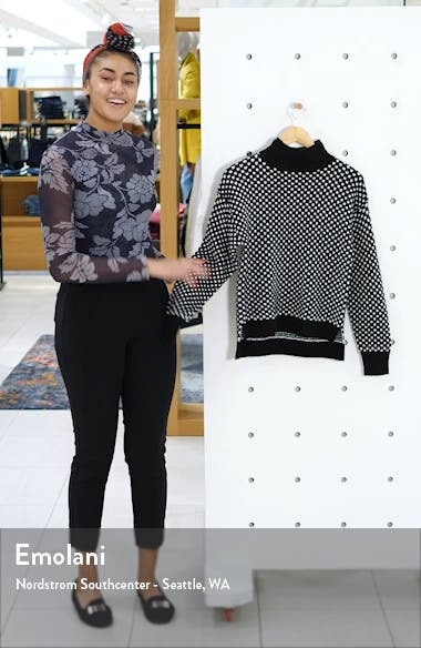 Check Mock Neck Sweater, sales video thumbnail
