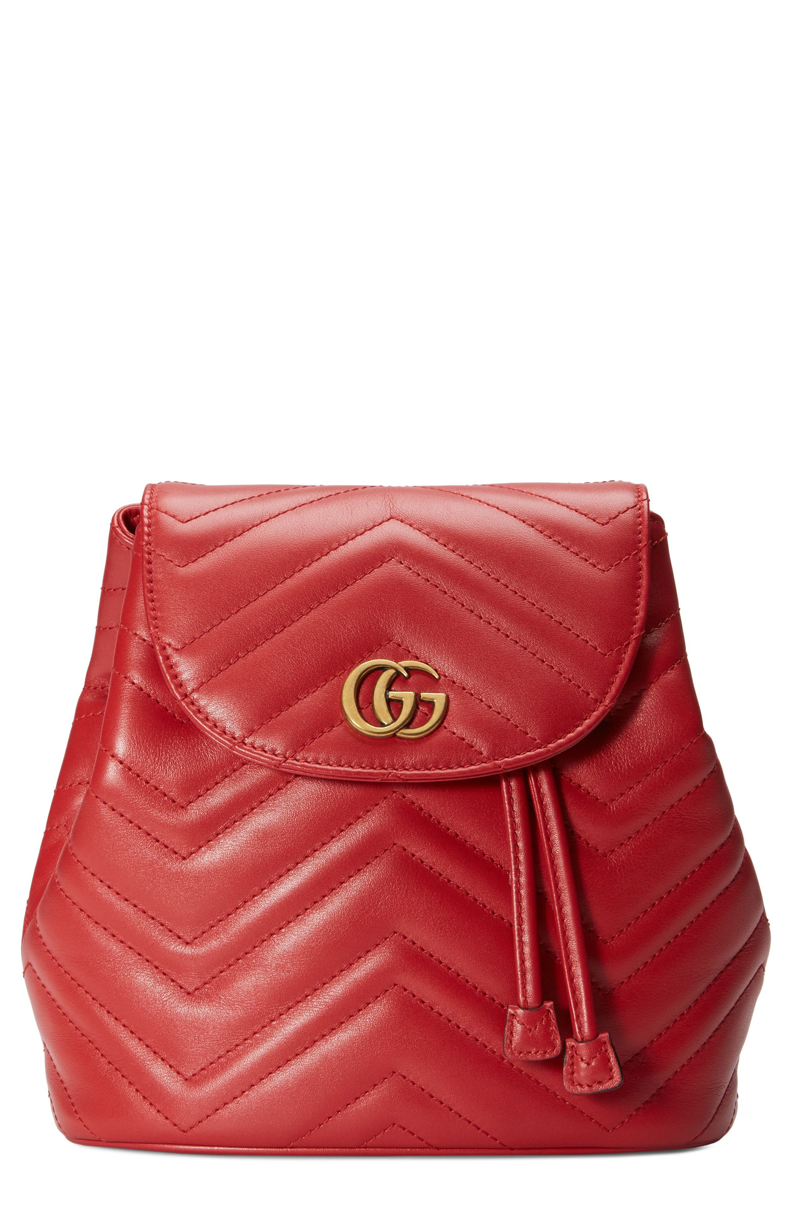 ec6d39d27baa Gucci Gg Marmont 2.0 Matelasse Leather Mini Backpack - Red