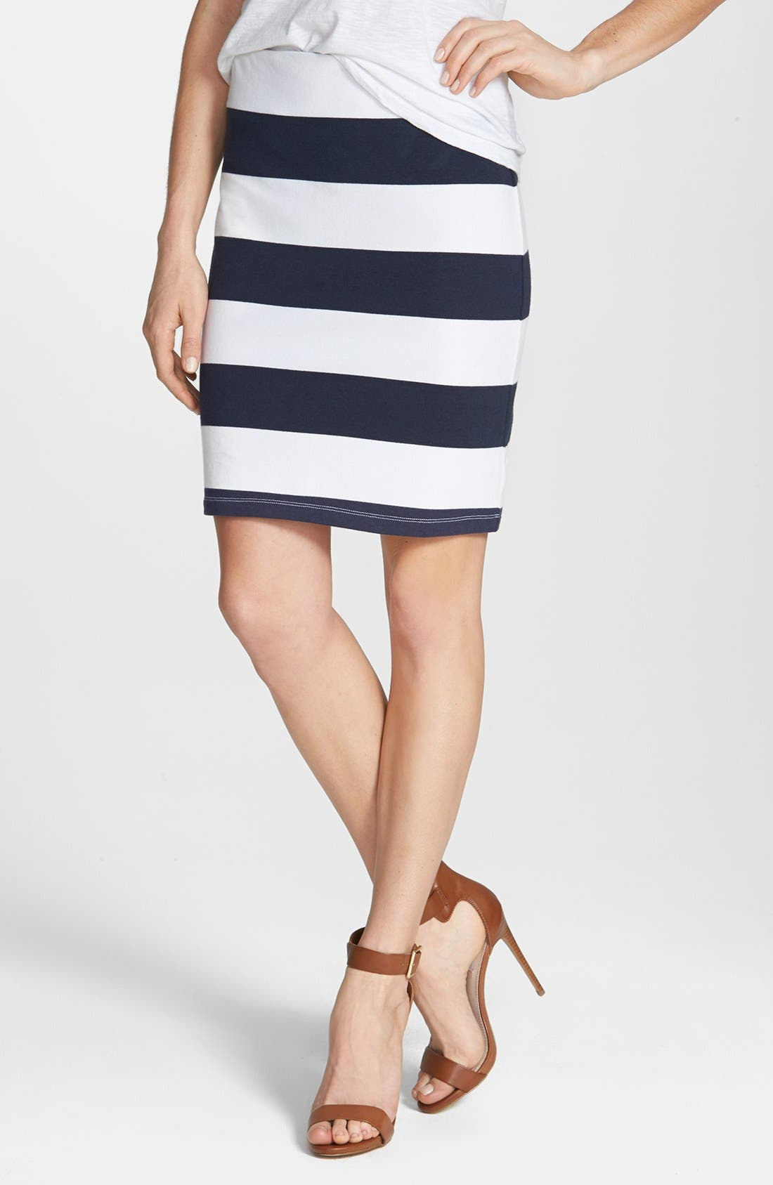 ,                             Stripe French Terry Skirt,                             Main thumbnail 11, color,                             411