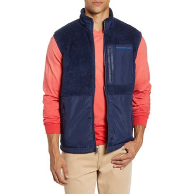 Southern Tide Fleece Vest, Blue