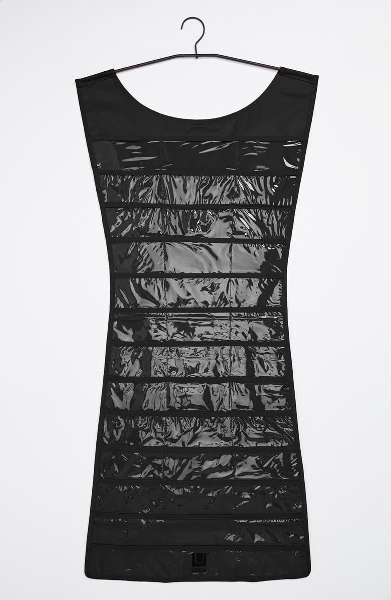 UMBRA 'Little Black Dress' Hanging Jewelry Organizer, Main, color, 001