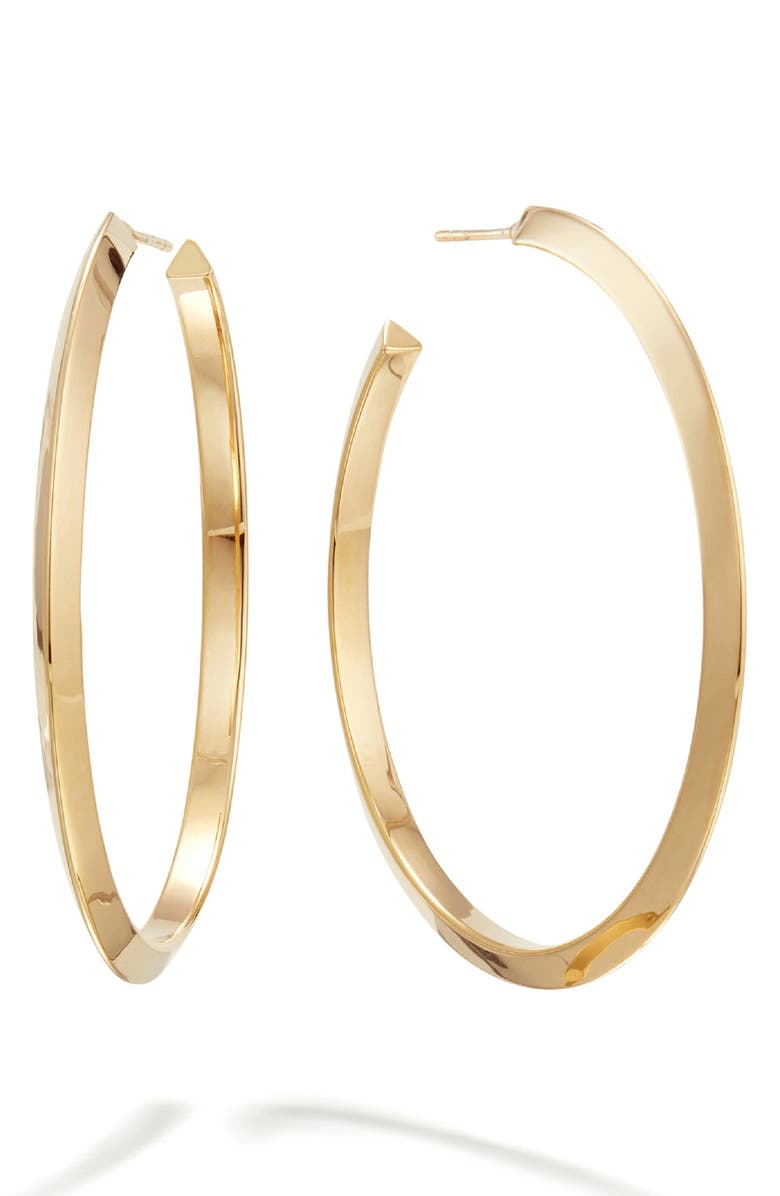 LANA JEWELRY Casino Hollow Hoop Earrings, Main, color, YELLOW GOLD