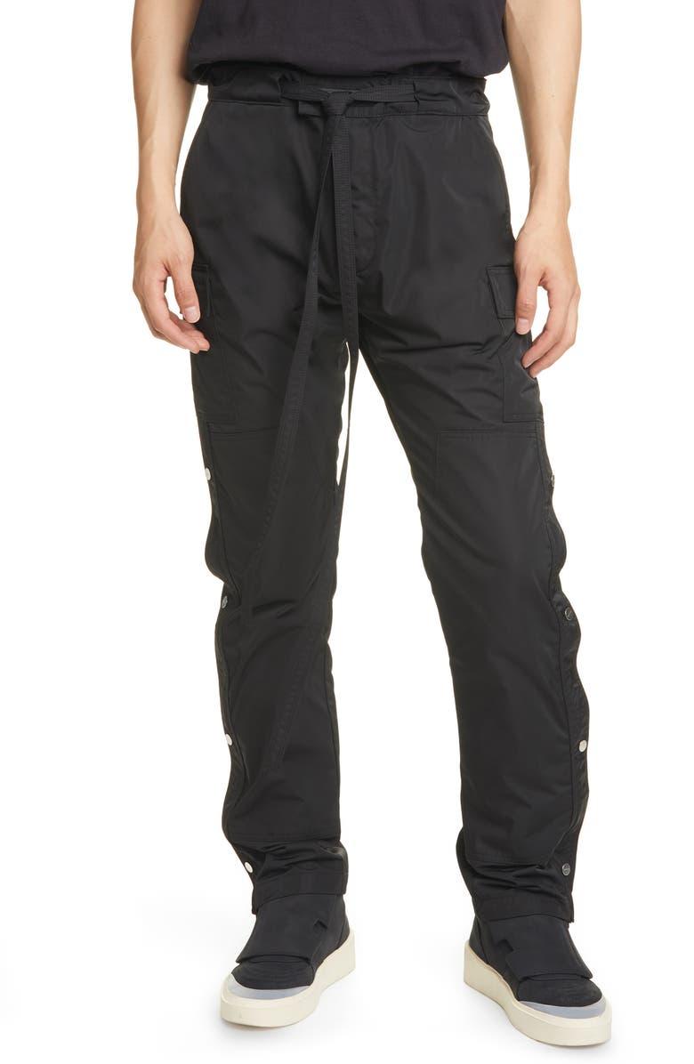 FEAR OF GOD Nylon Cargo Pants, Main, color, BLACK