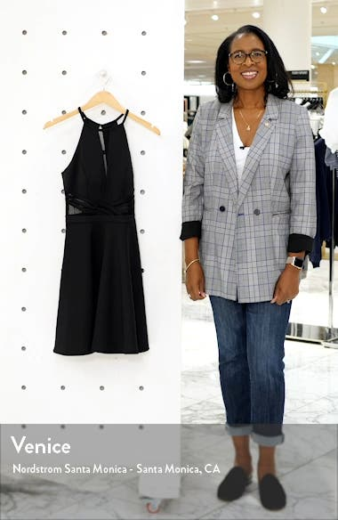 Scuba Mesh Skater Dress, sales video thumbnail
