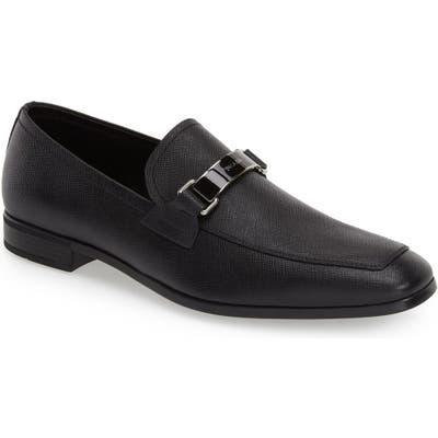 Prada Saffiano Leather Bit Loafer