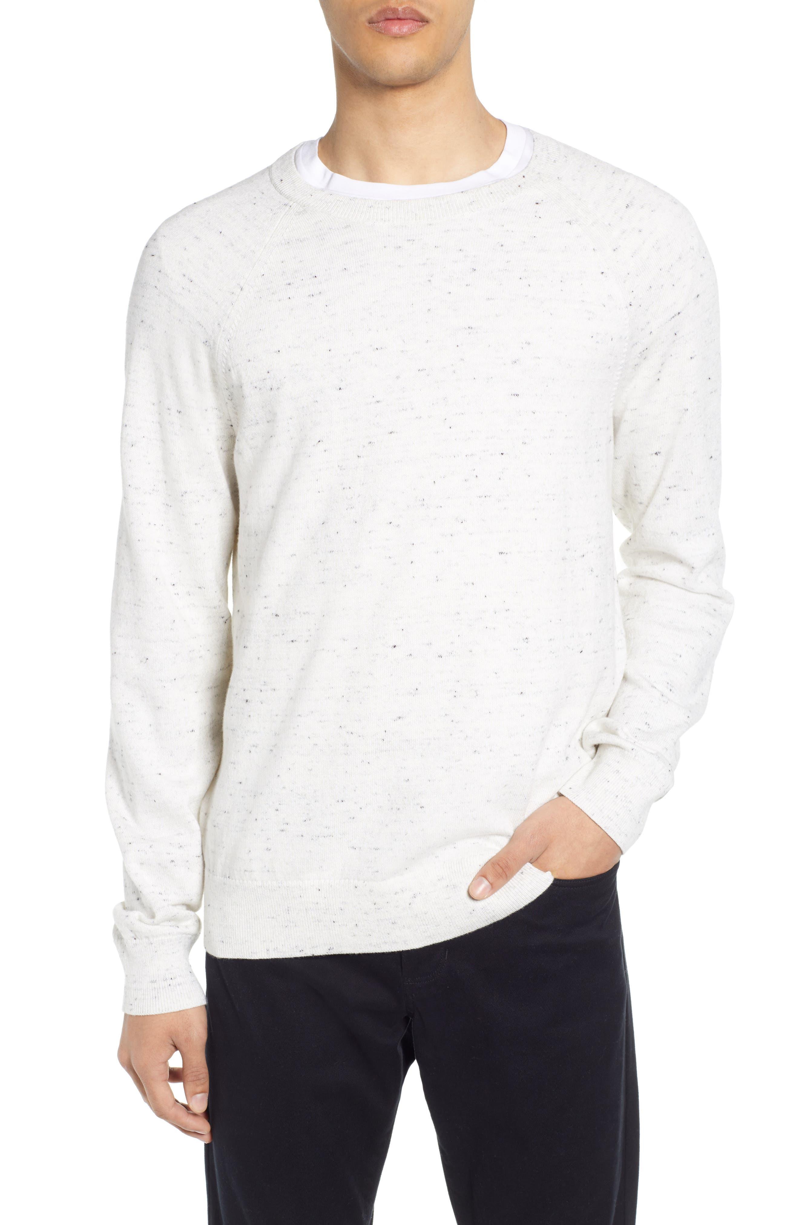 Vince Raglan Slim Fit Sweater, White