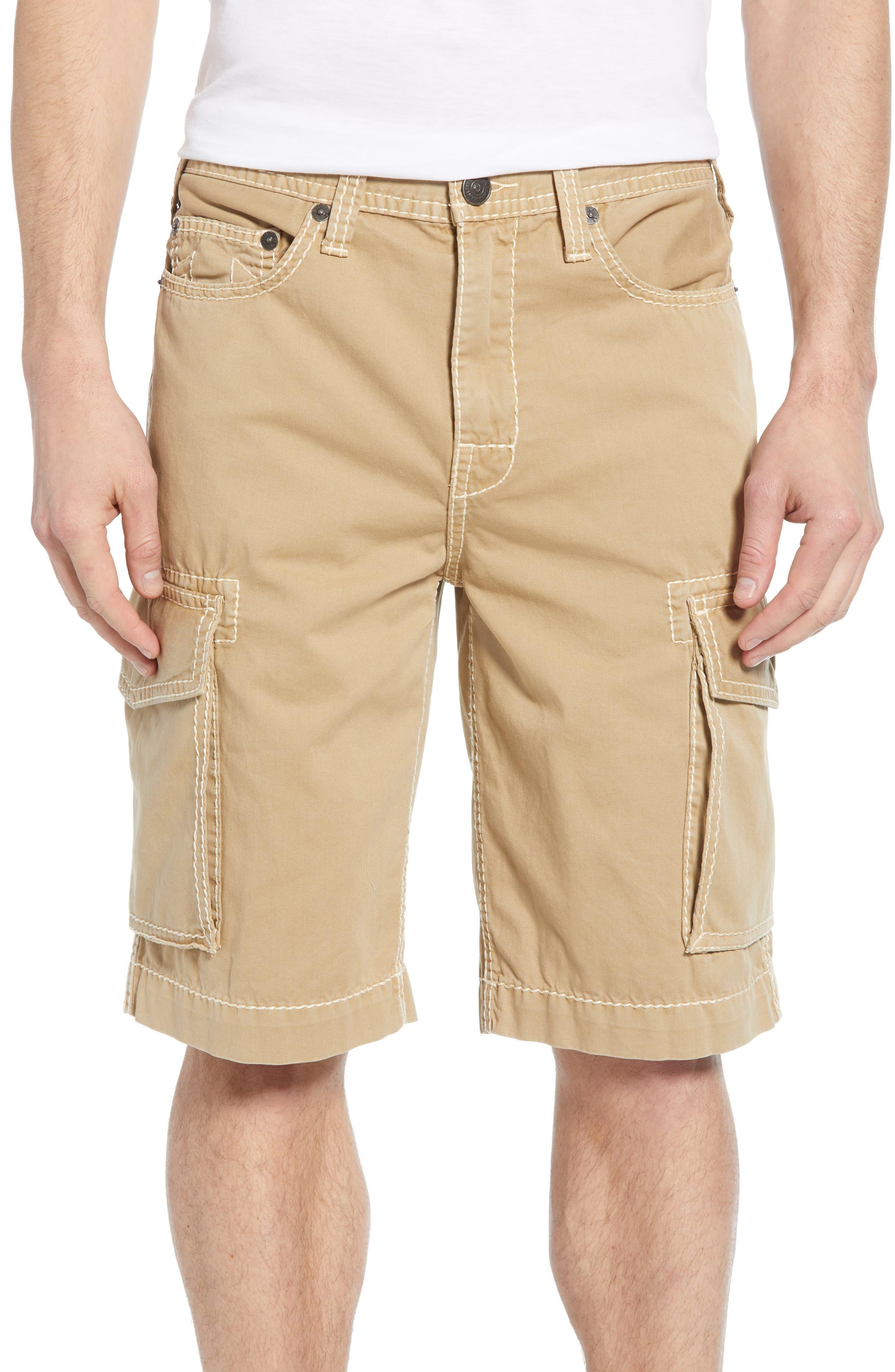 True Religion Brand Jeans Cargo Shorts, Brown