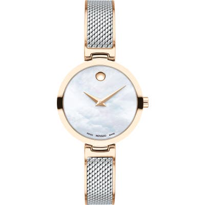 Movado Amika Mesh Bracelet Watch, 27Mm