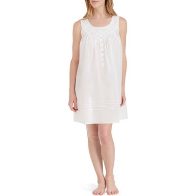Eileen West Cotton Nightgown, White