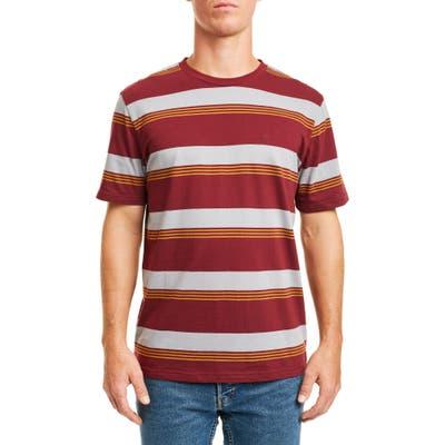Brixton Hilt Stripe T-Shirt, Red