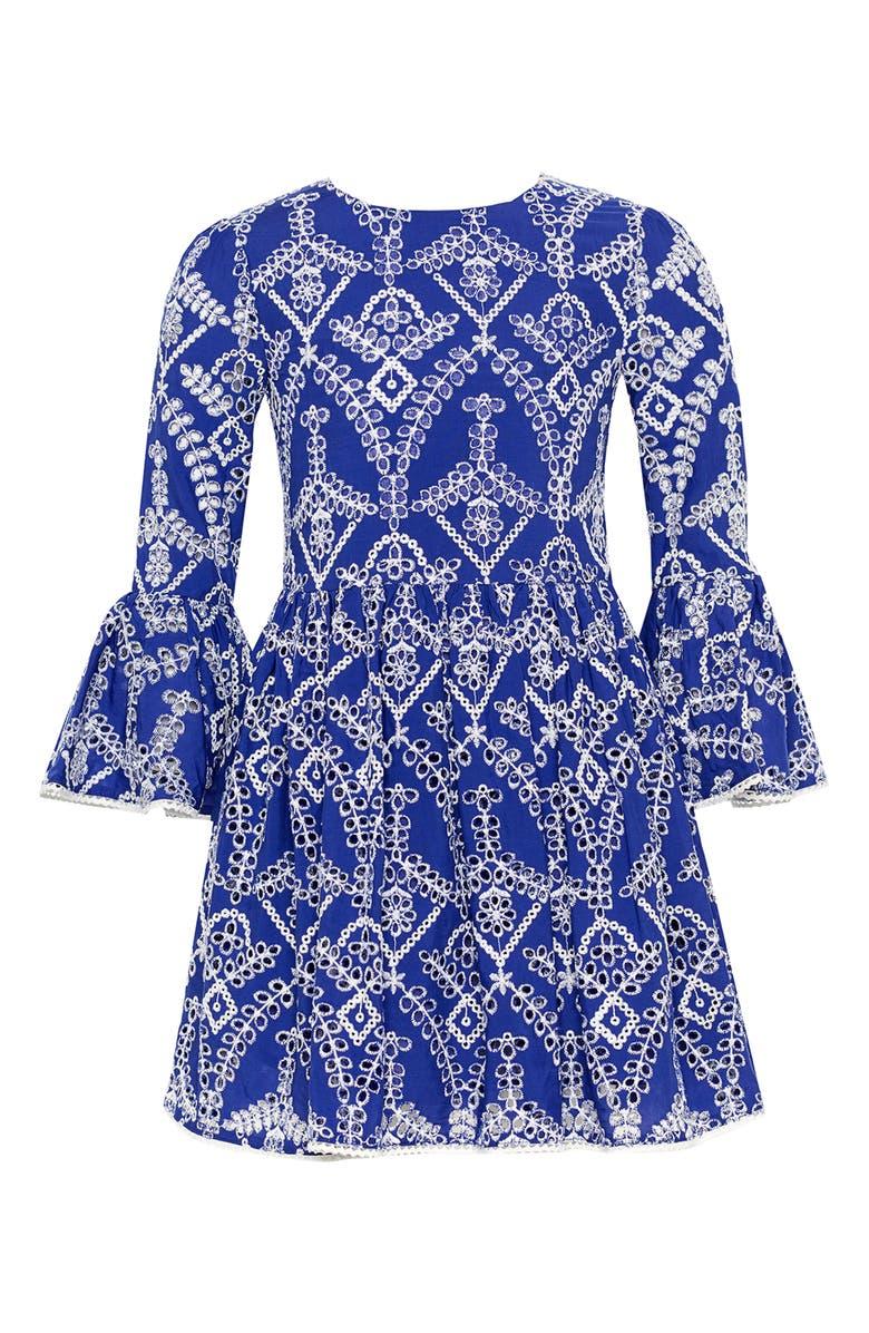 BARDOT JUNIOR Sia Broderie Dress, Main, color, 439