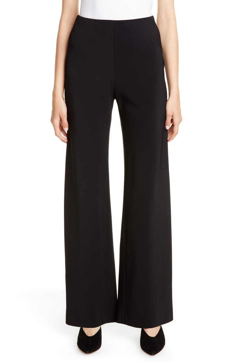 ROSETTA GETTY Stretch Jersey Pants, Main, color, BLACK