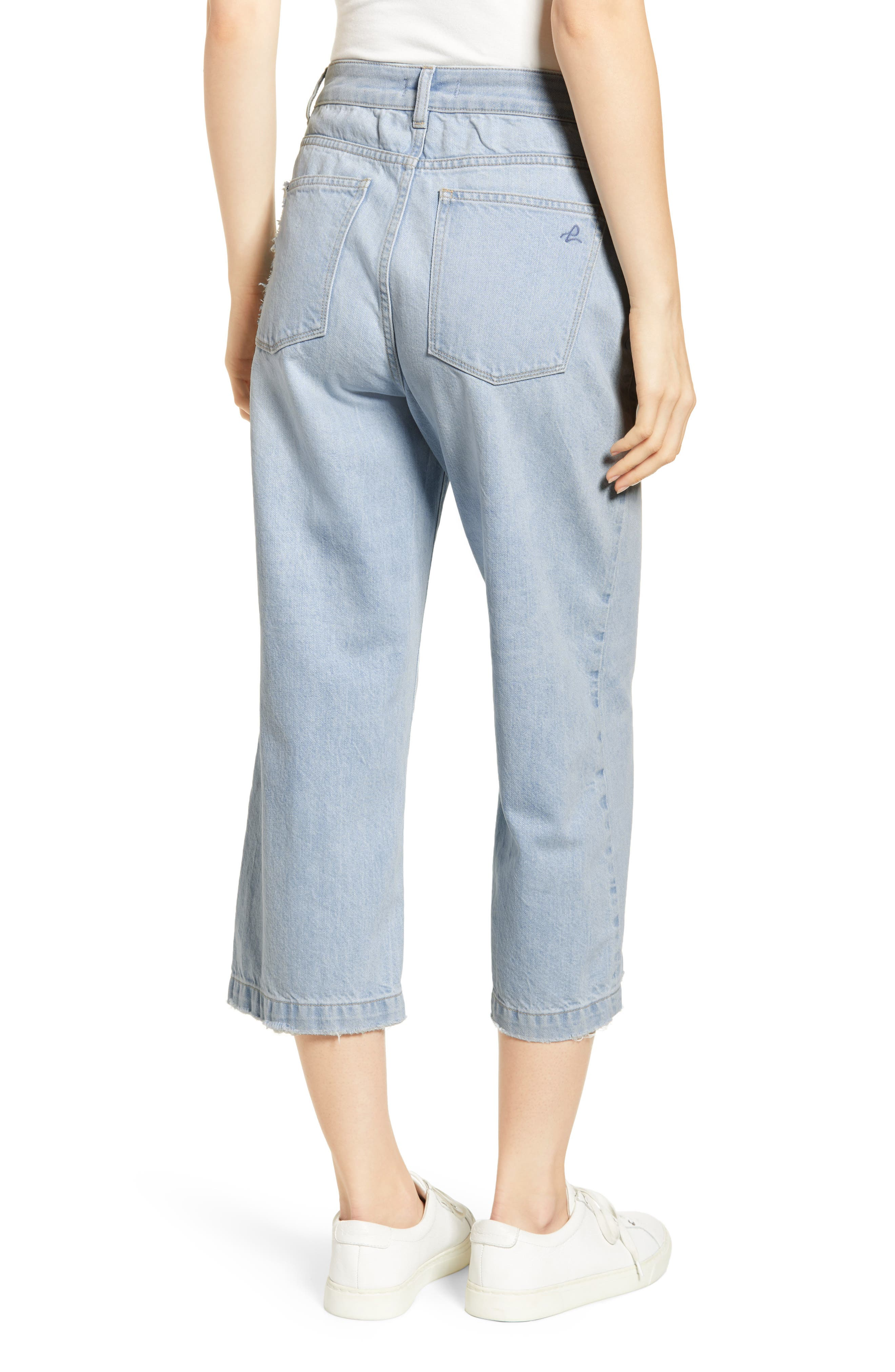 ,                             Hepburn High Waist Crop Wide Leg Jeans,                             Alternate thumbnail 2, color,                             429
