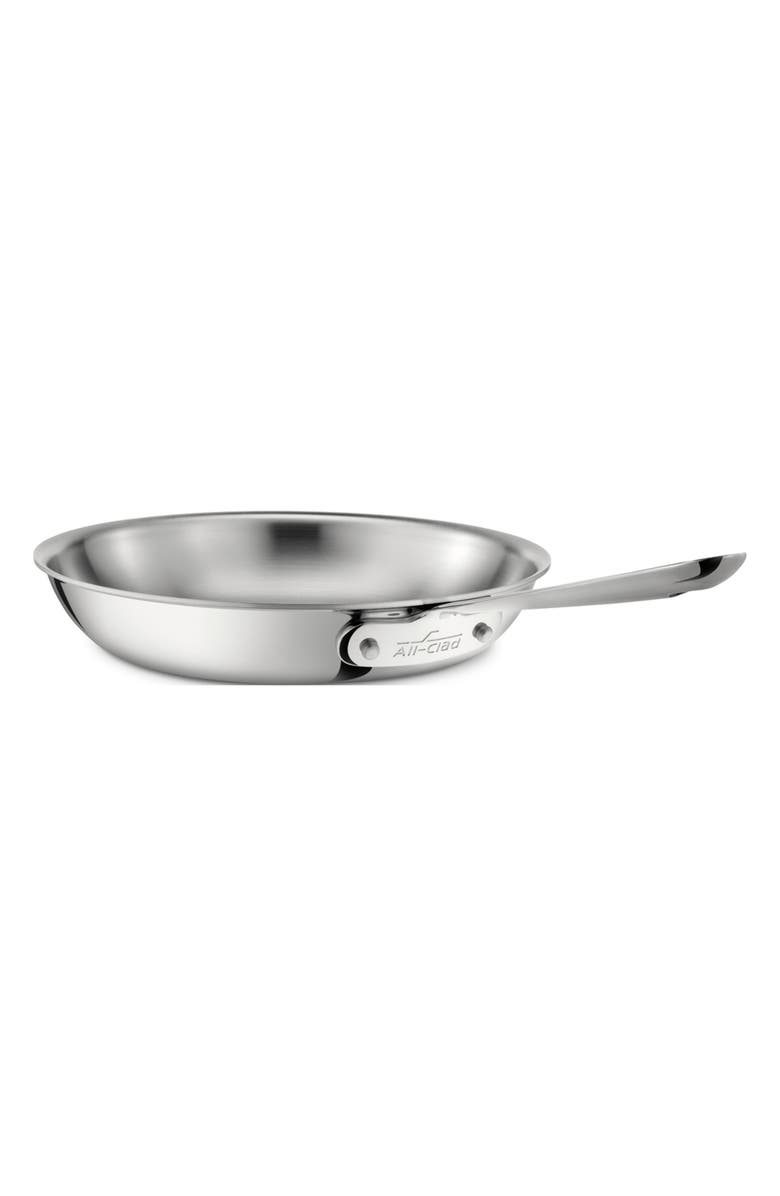 ALL-CLAD D3 8-Inch Stainless Steel Fry Pan, Main, color, SILVER