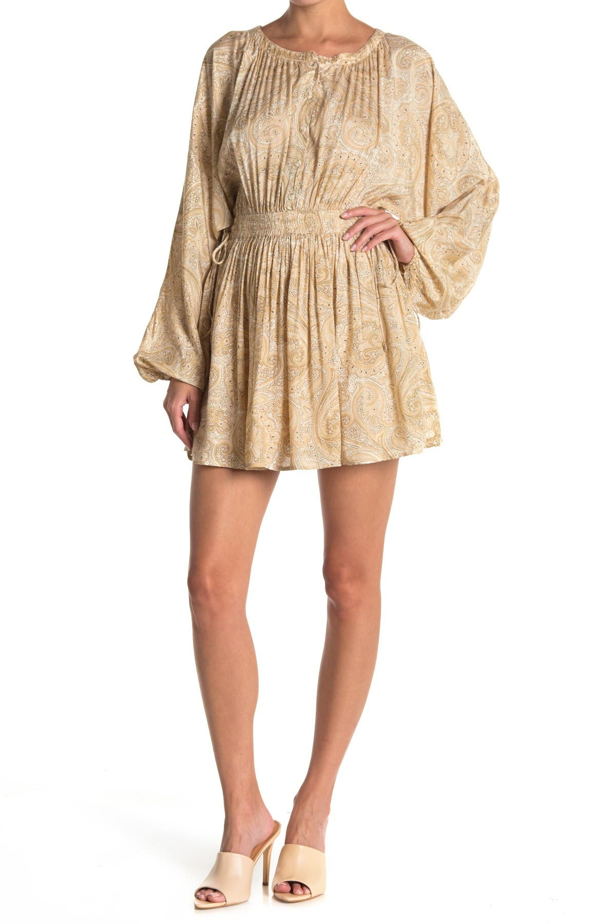 Image of Amuse Society Luciana Long Sleeve Woven Dress