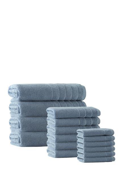 Image of ENCHANTE HOME Veta Turkish Cotton 16-Piece Towel Set