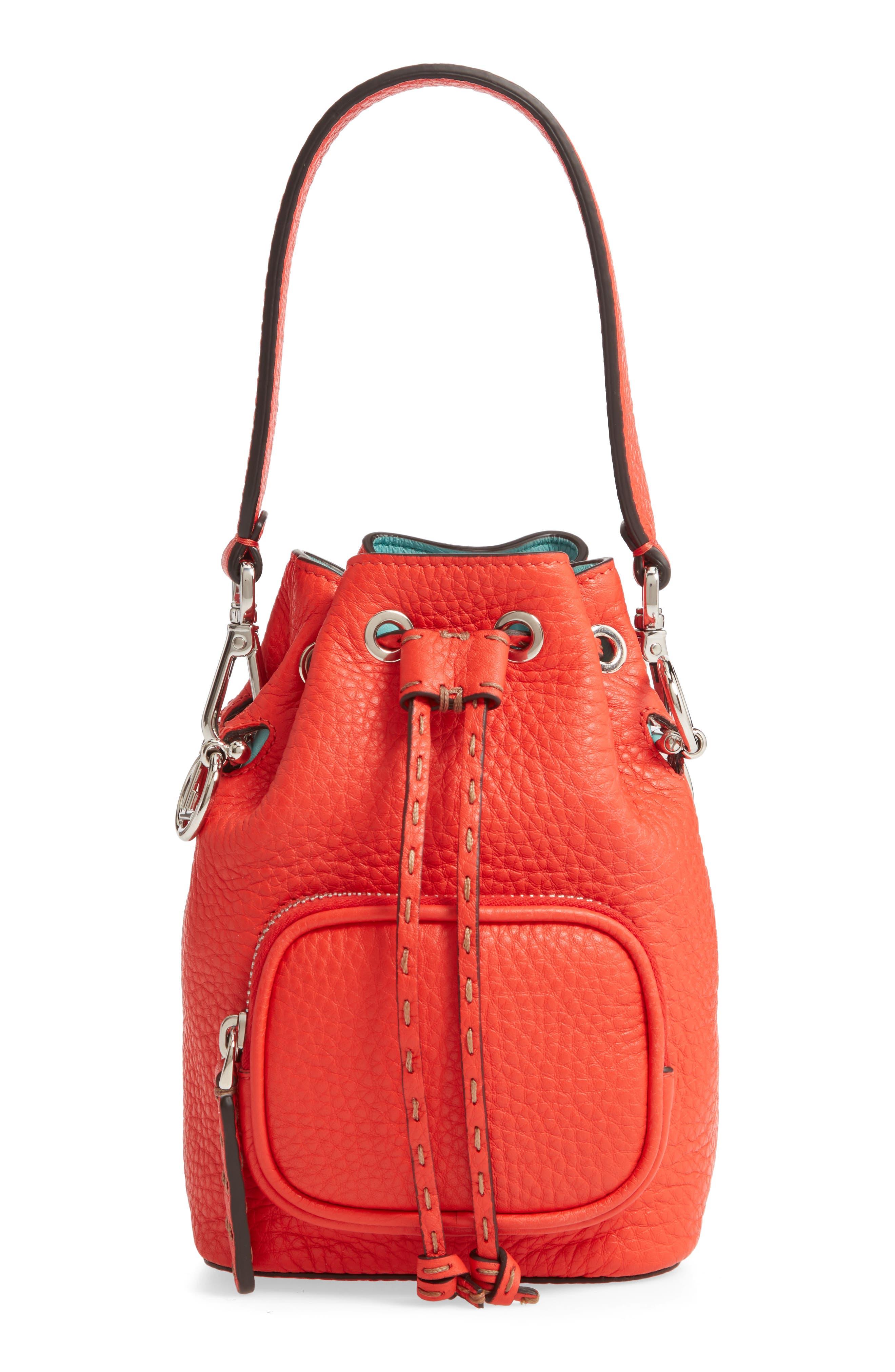Fendi Mini Mon Tresor Logo Leather Bucket Bag | Nordstrom