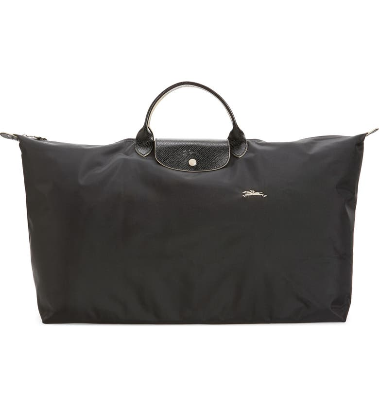 LONGCHAMP Extra Large Le Pliage Club Travel Tote, Main, color, BLACK