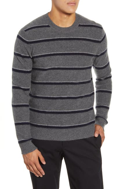 Image of Vince Classic Fit Stripe Cashmere Sweater